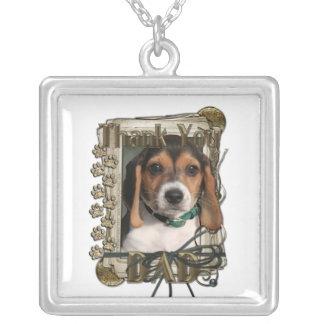 Gracias - las patas de piedra - perrito del beagle pendientes personalizados