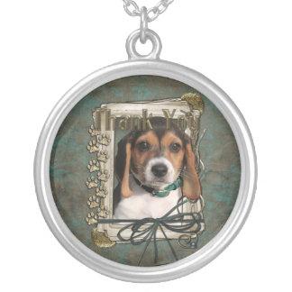 Gracias - las patas de piedra - perrito del beagle collares personalizados