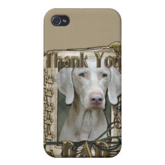 Gracias - las patas de piedra - Weimeraner - papá iPhone 4/4S Carcasas