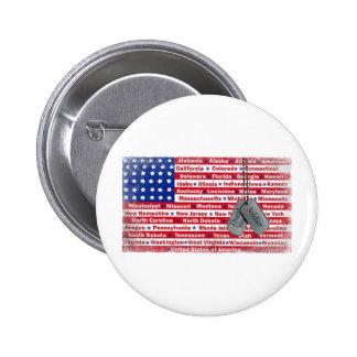 Gracias las placas de identificación del soldado pin redondo 5 cm
