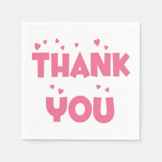 Gracias las servilletas rosadas del fiesta de los servilletas desechables