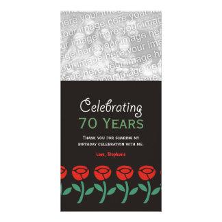 Gracias las tarjetas de la foto de la celebración  tarjeta personal