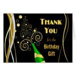 Gracias las tarjetas de nota - negro festivo y oro