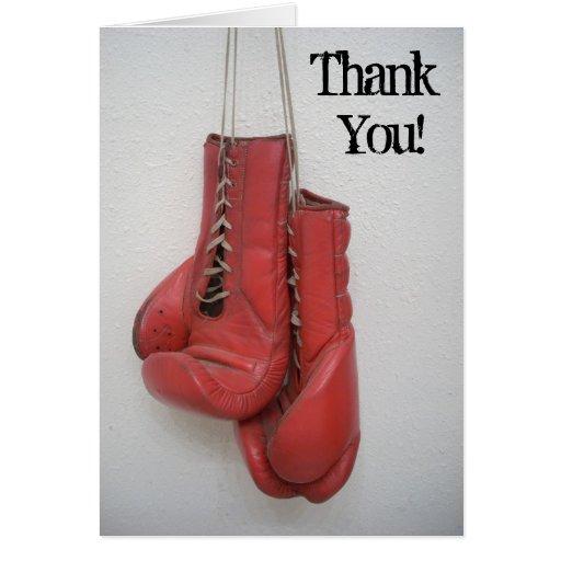 Gracias las tarjetas del boxeo