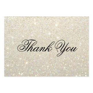 Gracias las tarjetas - oro blanco Glit fabuloso Tarjetas De Visita Grandes