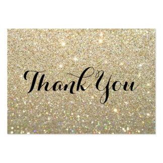 Gracias las tarjetas - oro Glit fabuloso Tarjetas De Visita Grandes