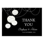 Gracias las tarjetas redondas negras y blancas de  tarjetas de visita