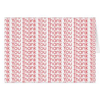 Gracias le agradecen agradecen [texto rojo Ver.] Tarjeta De Felicitación