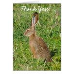 Gracias levantar la tarjeta de felicitación del co