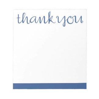 Gracias libreta azul cursiva bloc de notas