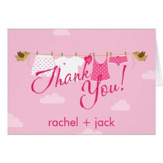 Gracias línea de ropa tarjeta pequeña