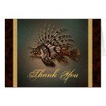 """Gracias"" lionfish Tarjetas"