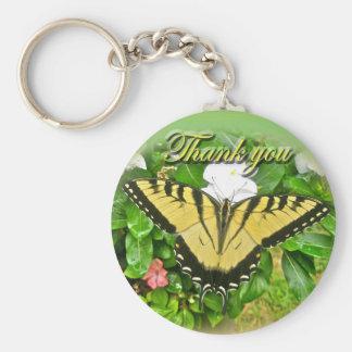 Gracias los artículos masculinos de la mariposa de llaveros personalizados