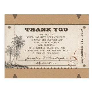 gracias los boletos de las postales del vintage