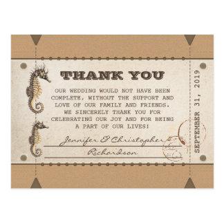 gracias los boletos del vintage por bodas postal