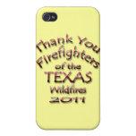 Gracias los bomberos Tejas 2011 iPhone 4 Protector