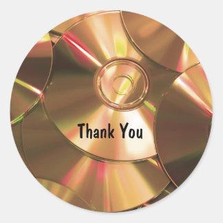 Gracias los Cdes del ordenador de los pegatinas Pegatina Redonda