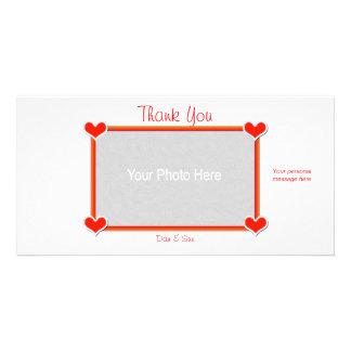 Gracias los corazones 4 usted tarjetas personales