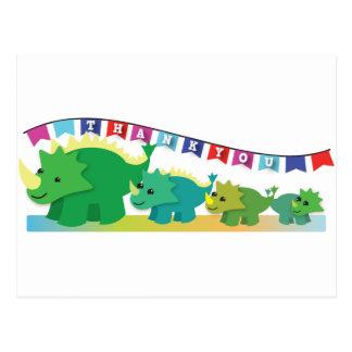 ¡GRACIAS los dinosaurios lindos! Postal