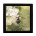 Gracias los flores y abeja de Apple Cajas De Regalo
