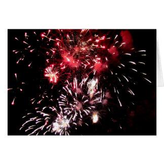 Gracias los fuegos artificiales del ~ tarjeta pequeña