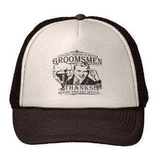 Gracias los padrinos de boda gorras de camionero