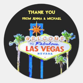 Gracias los pares de Las Vegas Pegatina Redonda