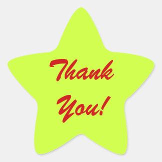 """""""gracias"""" los pegatinas de facturación pacientes pegatina en forma de estrella"""