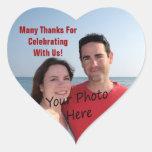 Gracias los pegatinas del corazón de la foto calcomanías de corazones