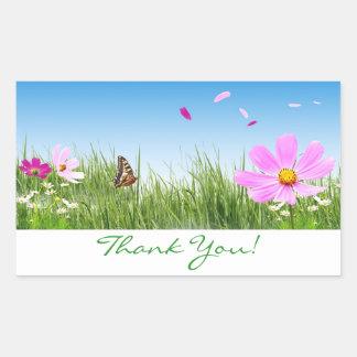 Gracias los pegatinas del jardín de flores de la m