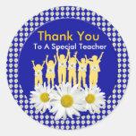 Gracias los pegatinas del profesor con los niños y