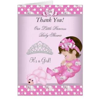 Gracias los pequeños conejitos del chica de la tarjeta de felicitación