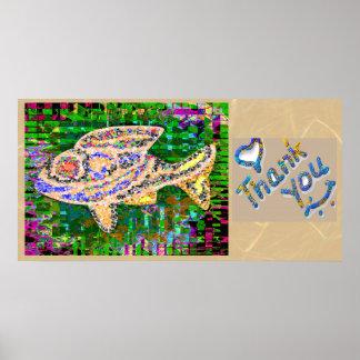 Gracias - los pescados exóticos 2 del oro posters