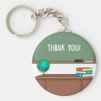 Gracias los regalos del profesor llavero redondo tipo pin