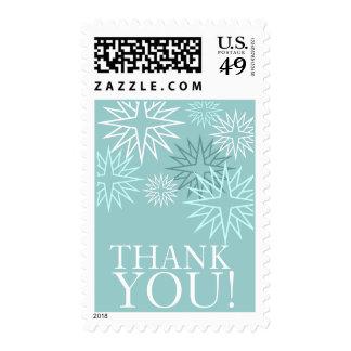 Gracias los sellos del boda del invierno azules