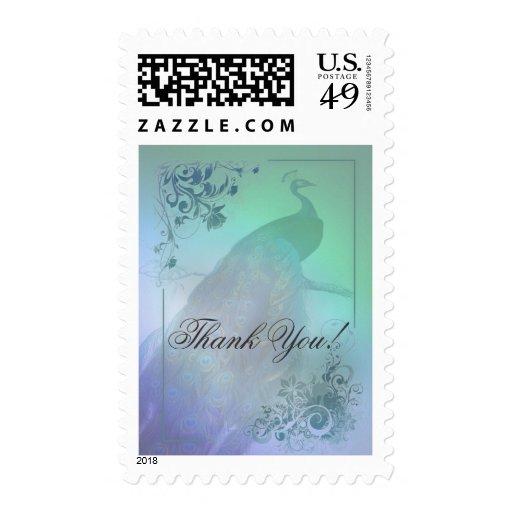 Gracias los sellos románticos del boda del pavo re