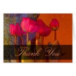 Gracias los tulipanes hermosos tarjetas