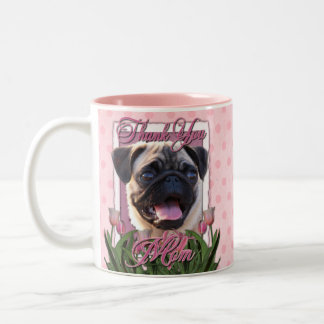 Gracias - los tulipanes rosados - barro amasado taza de café