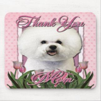 Gracias - los tulipanes rosados - Bichon Frise Tapete De Ratón