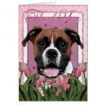 Gracias - los tulipanes rosados - boxeador - Vindy Tarjeta De Felicitación