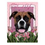 Gracias - los tulipanes rosados - boxeador - Vindy Postal