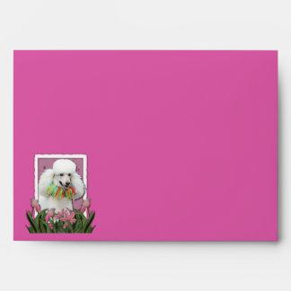 Gracias - los tulipanes rosados - caniche - blanco sobres