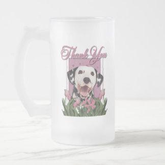 Gracias - los tulipanes rosados - Dalmatian Taza De Cristal