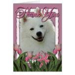 Gracias - los tulipanes rosados - esquimal america felicitación