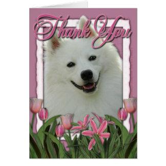 Gracias - los tulipanes rosados - esquimal tarjeta de felicitación