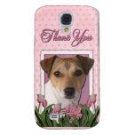 Gracias - los tulipanes rosados - Jack Russell