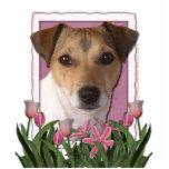 Gracias - los tulipanes rosados - Jack Russell Escultura Fotográfica