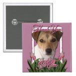 Gracias - los tulipanes rosados - Jack Russell Pin