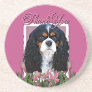 Gracias - los tulipanes rosados - los caballeros - posavasos manualidades