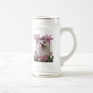Gracias - los tulipanes rosados - maltés jarra de cerveza